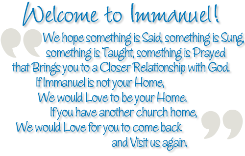 Welcome to Immanuel!
